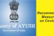 Ministry of AYUSH Recommended Measures during COVID 19